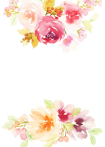 Tarjeta de felicitación con flores. Pastel colores. Manualidad.