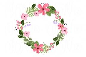 Hawaiian Flower Clipart Color.