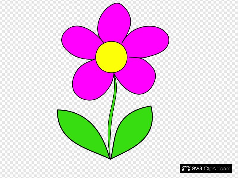 Pink Flower Clip art, Icon and SVG.