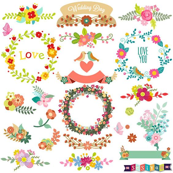 Printable Abstract Flower Clipart.