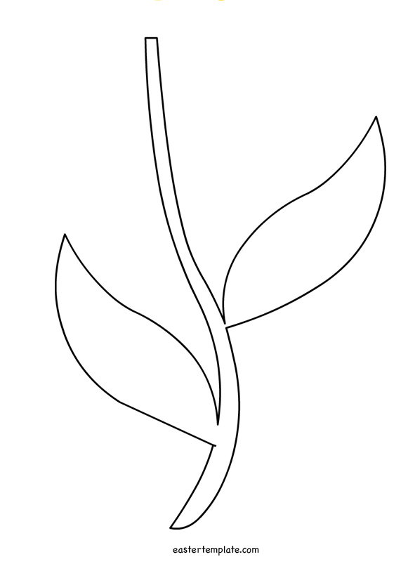 Printable Flower Stem Template.