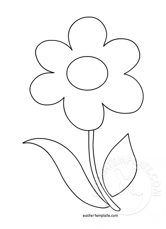 Flower With Stem Template.
