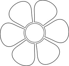 flower template free printable.