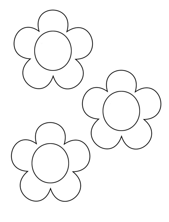 Flower Template To Colour.
