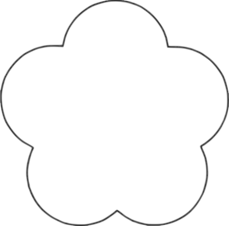 Template For Flower Petals.