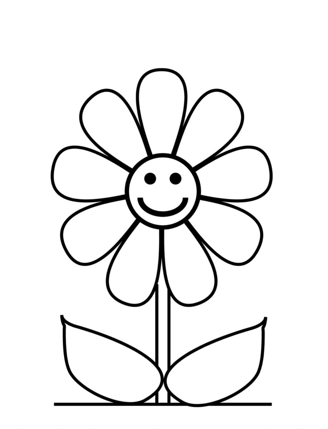 Free Flower Outline For Kids, Download Free Clip Art, Free.