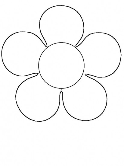 Flower Clipart For Coloring.
