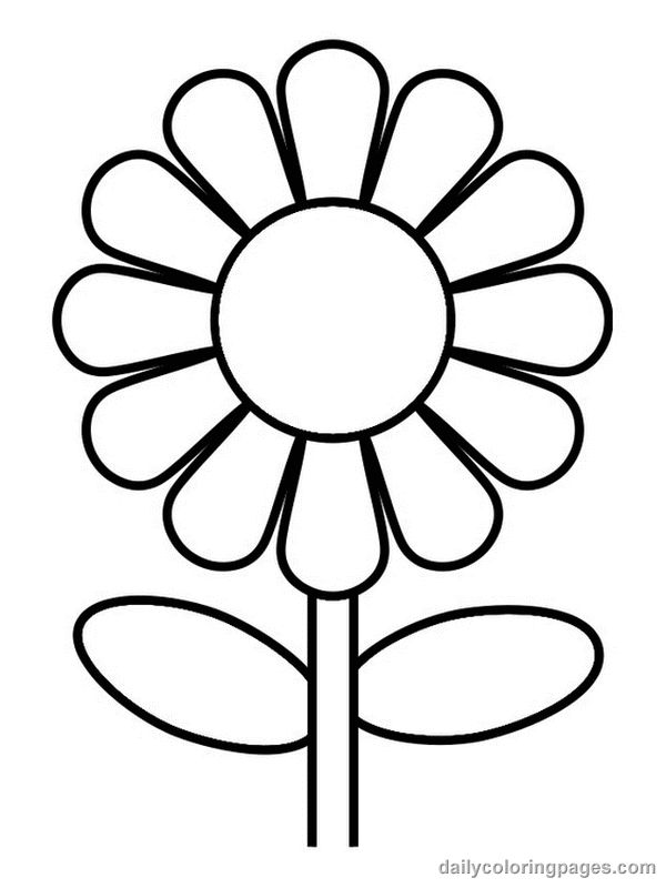 Free Flower Template To Colour, Download Free Clip Art, Free.