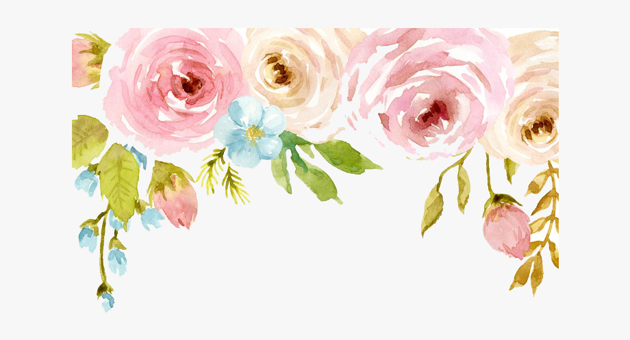 Watercolor Flower Clip Art Free Transparent Background.
