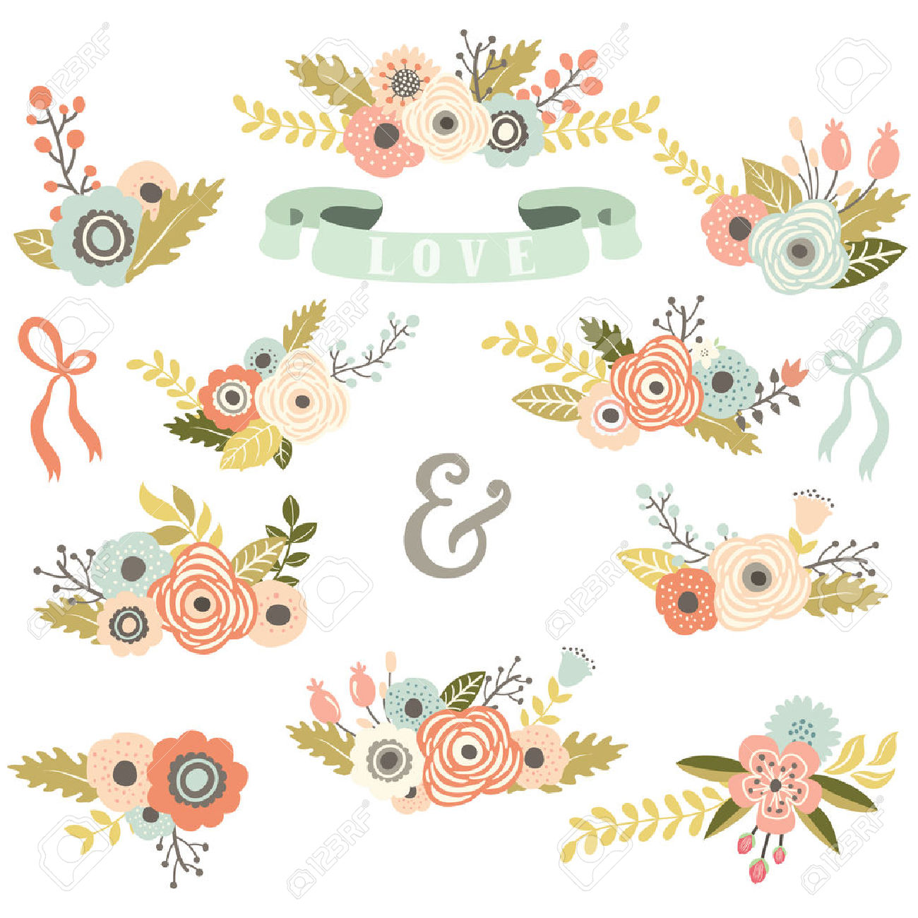 1,378,151 Flower Stock Vector Illustration And Royalty Free Flower.