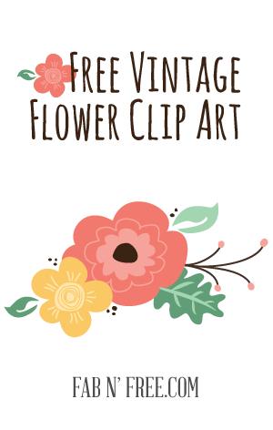 Free Vintage Flower Clip Art + a preview.