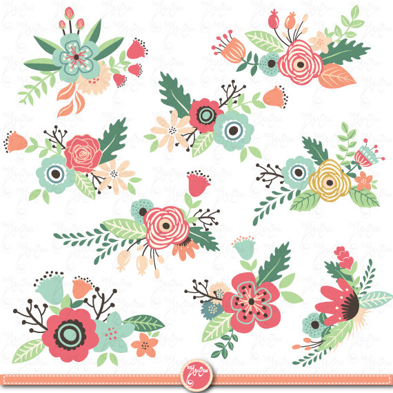 Flowers Clipart pack: