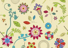 Cute Flowers Wallpaper Pattern Clipart Picture Free Download.
