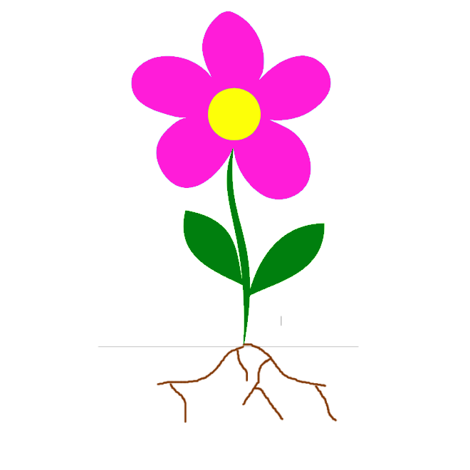 Flower Clipart With Roots.