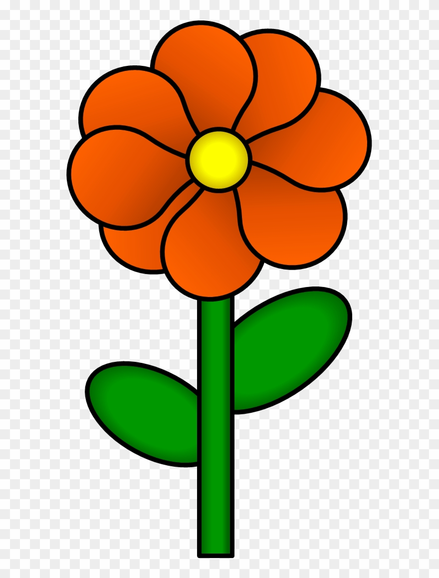 Blue Flower Clipart With Stem.