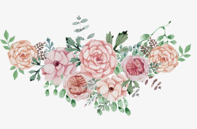 Watercolor Flowers Flower Cluster, Flower Clipart.