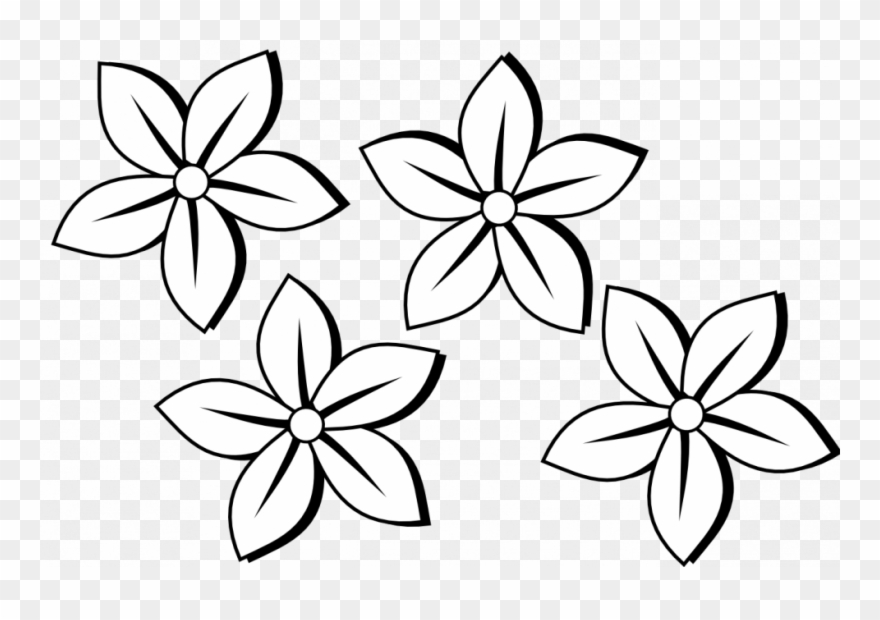 Coloring Pages Flower Drawing Clipart Clip Art Of Flowers.