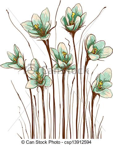 EPS Vectors of Vintage Flowers Composition.