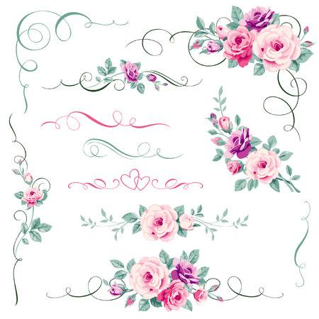 42,353 Floral Corner Cliparts, Stock Vector And Royalty Free Floral.