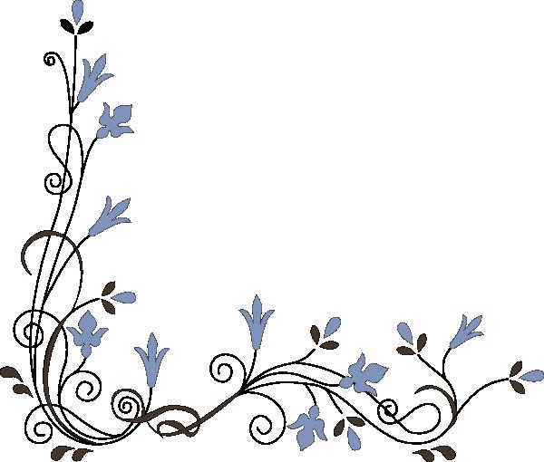 Simple Flower Corner Clipart.