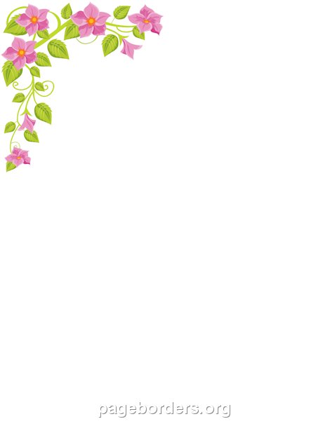 Flower Corner Border: Clip Art, Page Border, and Vector Graphics.