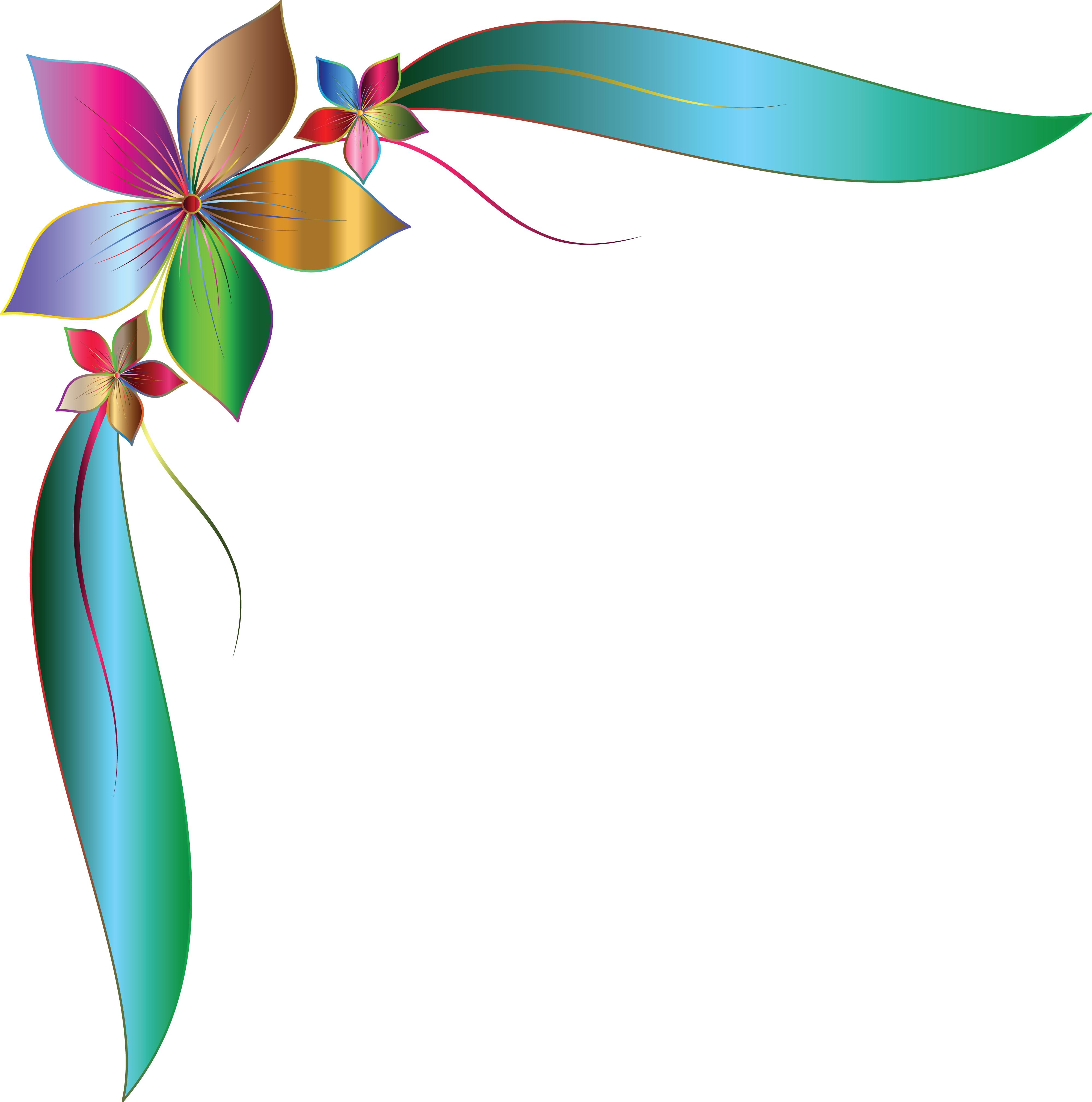 Flower Corner Design Clipart.