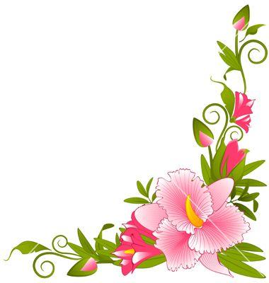 Flower border vector art.