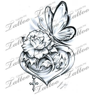 Heart tattoos, Butterflies and Tattoos and body art on Pinterest.