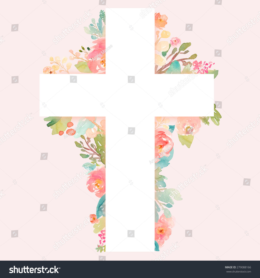 Download flower cross clipart Flower Christian cross Clip art.