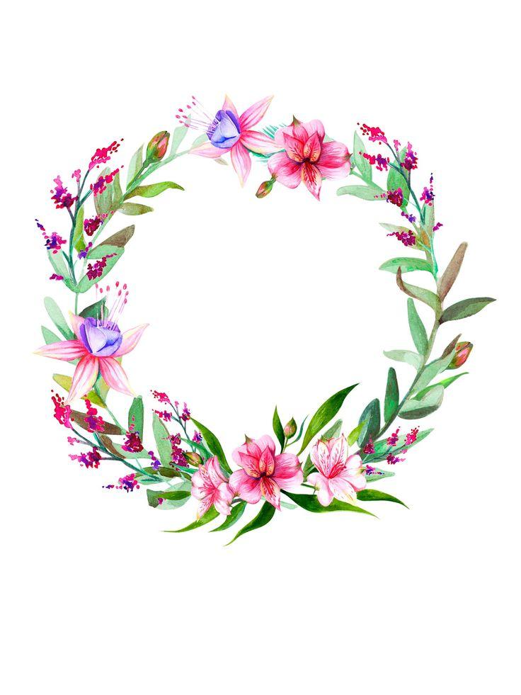 Flower Crown Clipart.