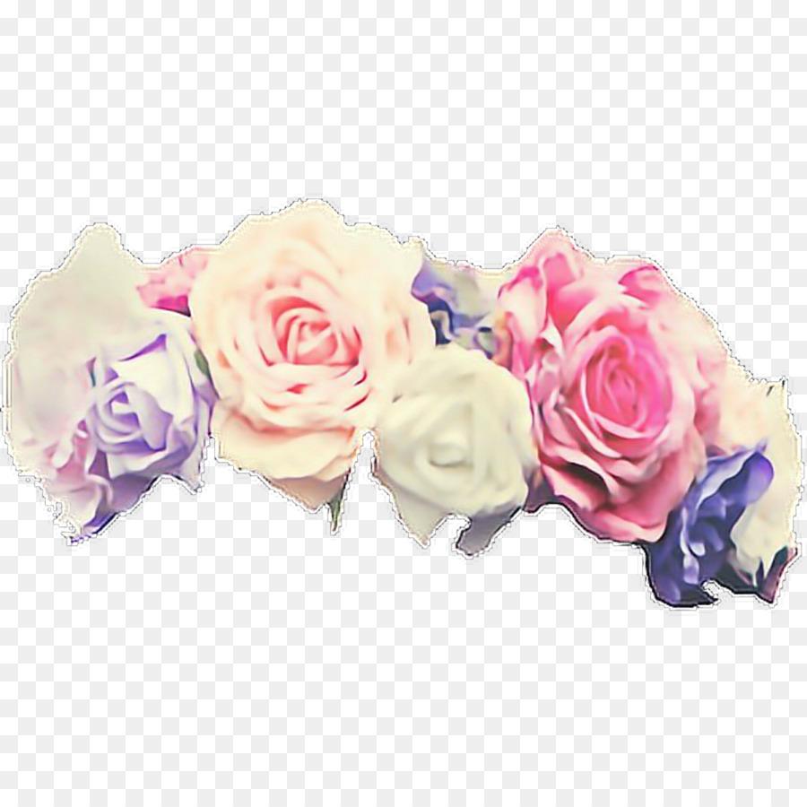 Purple Flower Wreath png download.