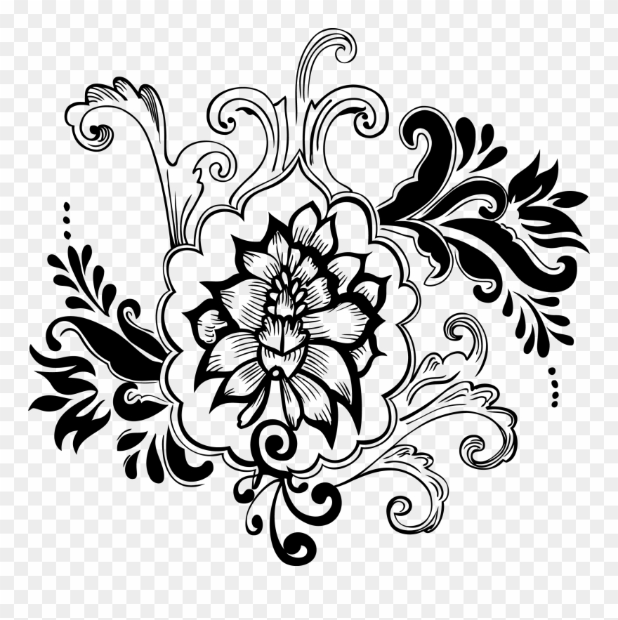Clip Art Free Library Hd Drawings Of Floral Designs.
