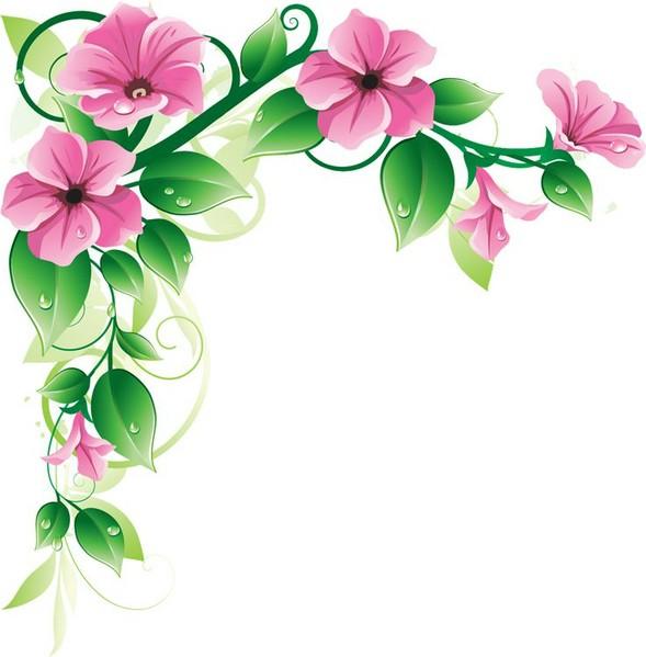 flower clipart free flower clips pink floral art school border.