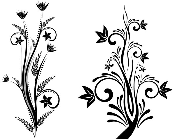Simple Flower Designs Black And White.