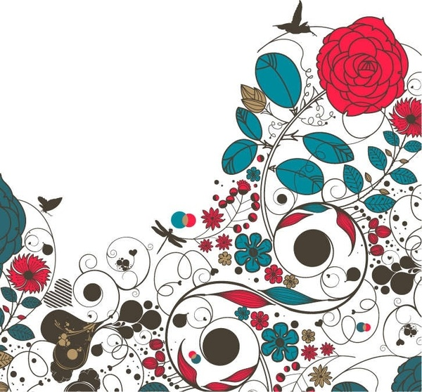 Flower design clipart free vector download (11,910 Free vector.