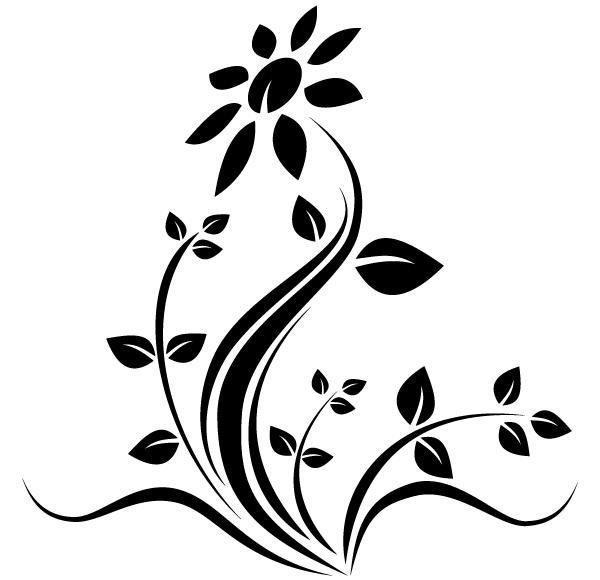 Line Art Flower Design.