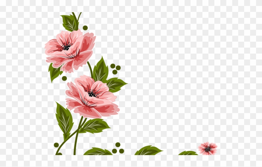 Vintage Flower Clipart Flower Painting.