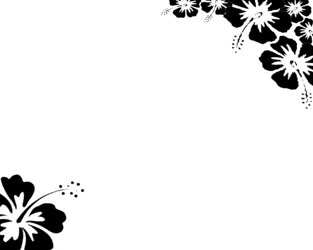 Free Page Border Designs Flowers Black And White, Download.