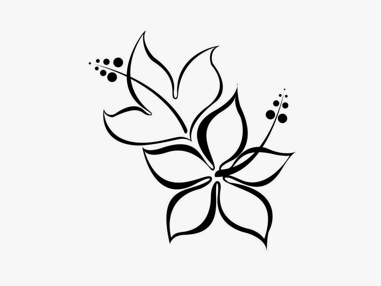 Free Simple Flower Designs Black And White, Download Free.