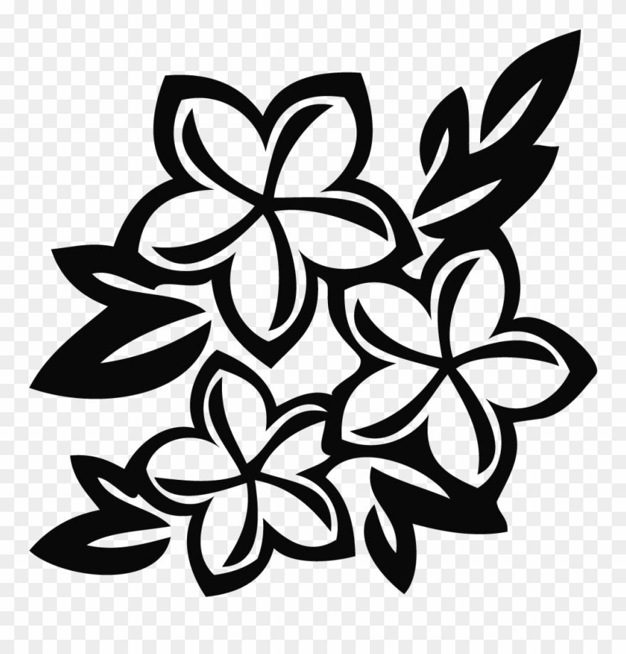 Black And White Flowers Drawing At Getdrawings.