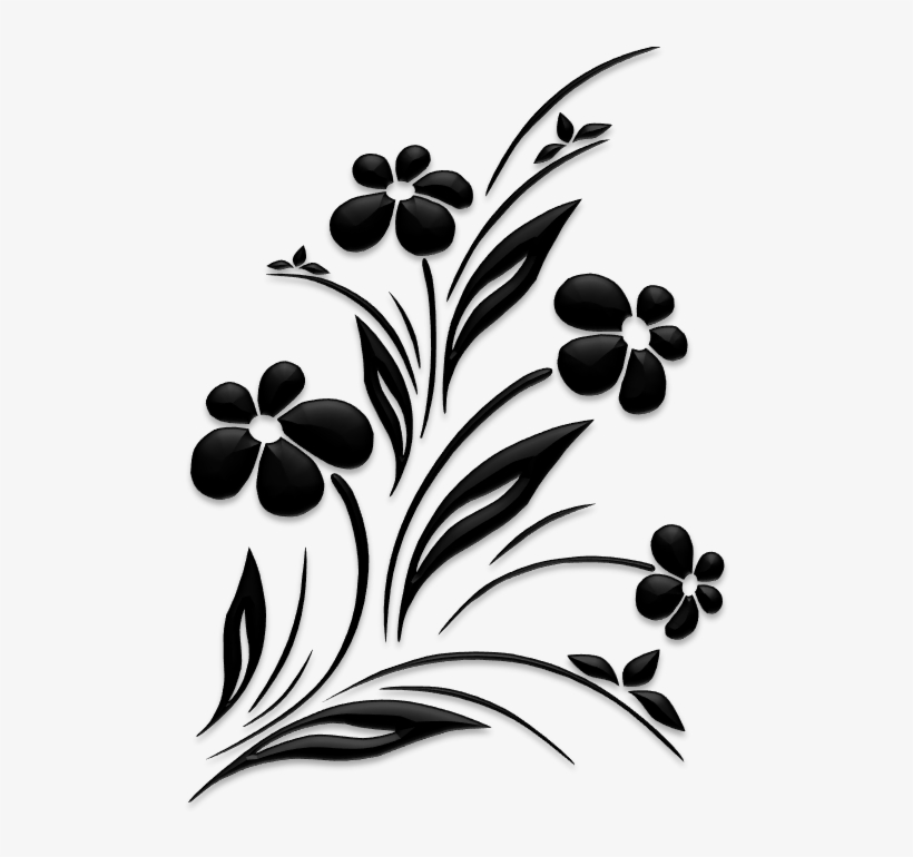 Flower Silhouette Png.