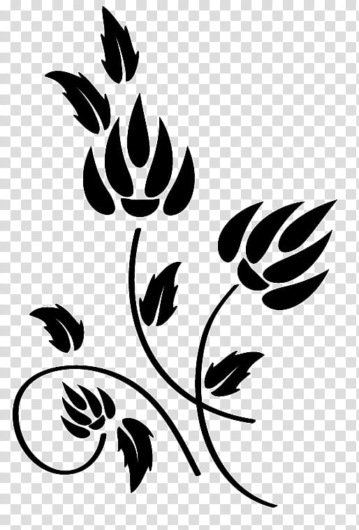 Flowers Design, black flower illustration transparent background PNG.