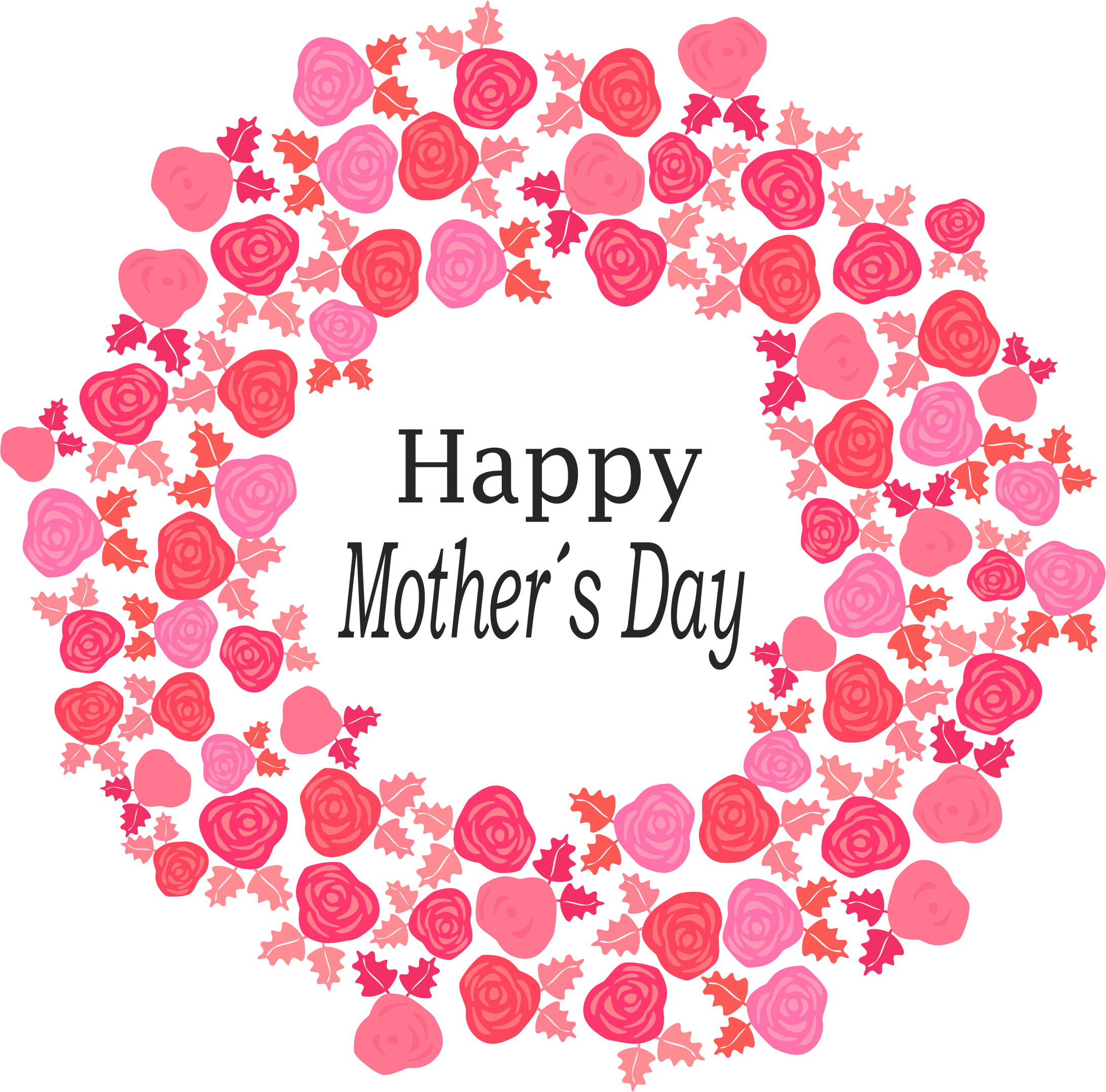 Happy mothers day flowers clipart.