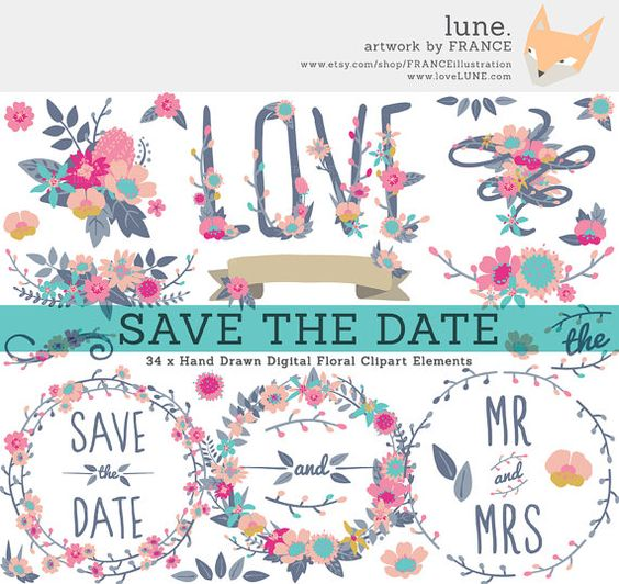 Wildflowers wedding, Save the date and Dates on Pinterest.