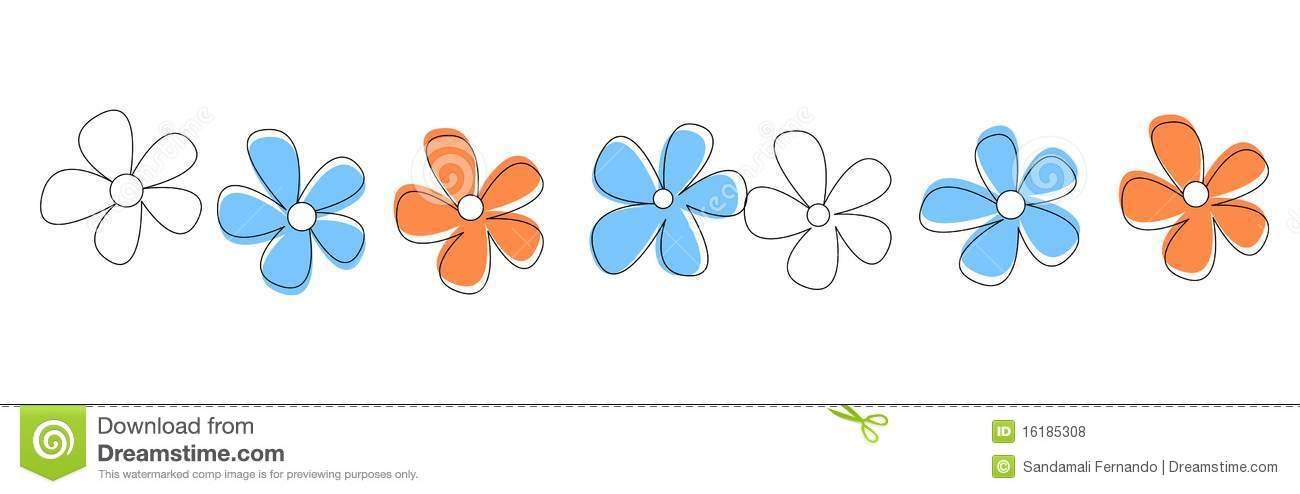 Flowers Line / divider stock vector. Illustration of daisy.