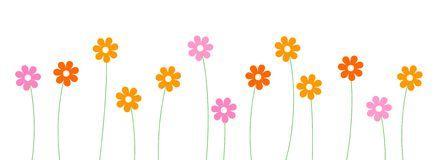 Spring Flower Divider Clipart.