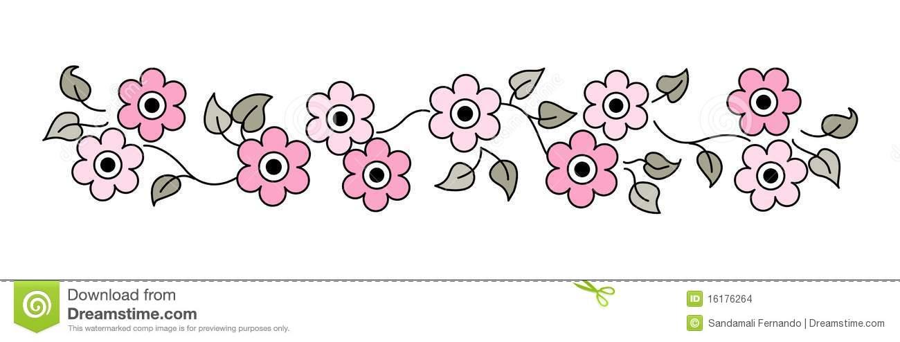 Flowers Line / divider stock vector. Illustration of elegant.
