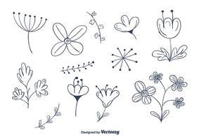 Flower Doodle Free Vector Art.