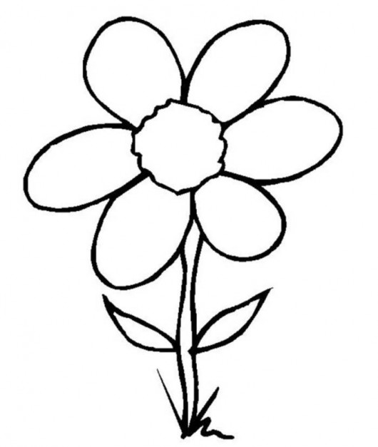 Flowers Drawing For Kids.