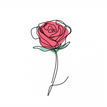 Flower Sketch PNG Images.
